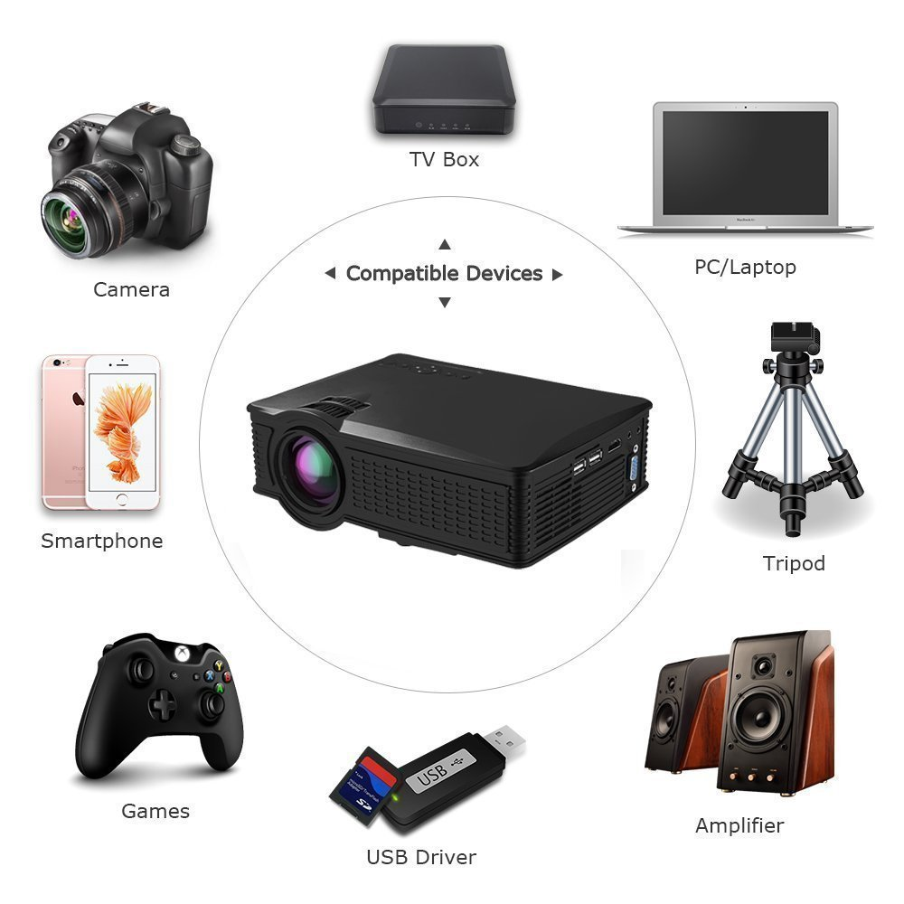 Full HD LED Proyector, huiheng LCD proyector multimedia proyector ...