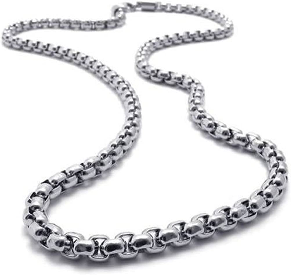 SANDRA Mens Jewelry 2mm 5mm 16-40 Golden Silver Stainless Steel Rope Necklace Chain