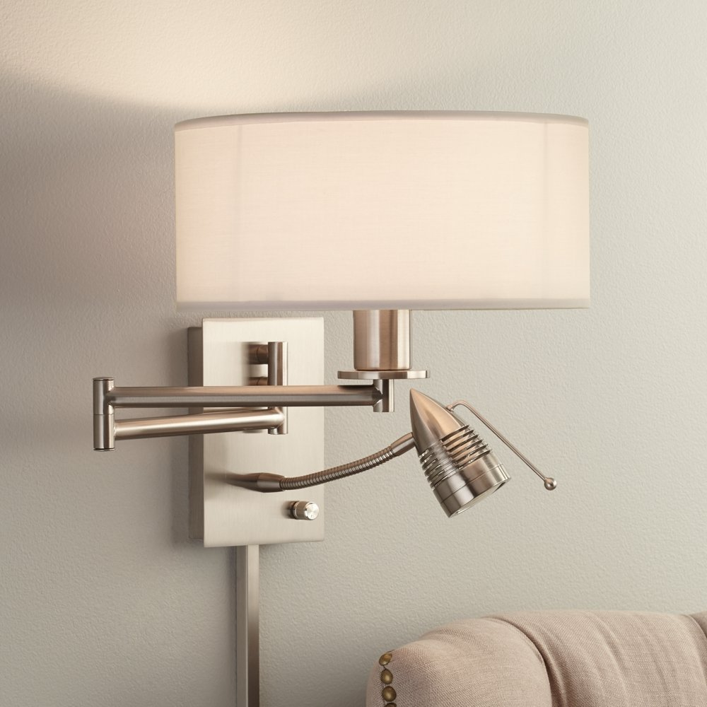 Possini Euro Tesoro LED Reading Swing Arm Wall Lamp   Wall Sconces    Amazon.com