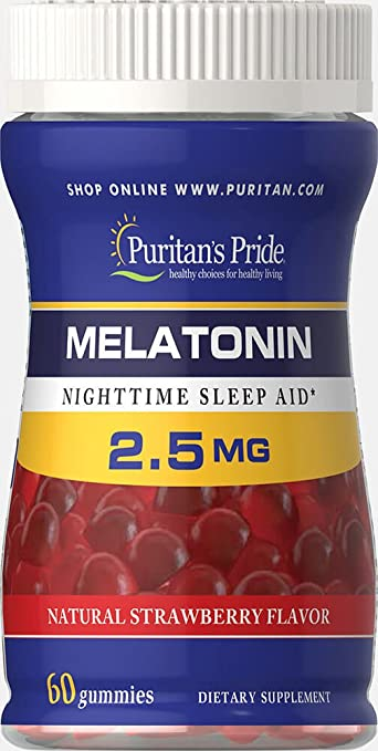 Image Unavailable. Image not available for. Color: Puritans Pride Melatonin Gummy 2.5 mg ...