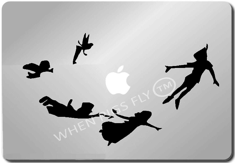 Amazon.com: Peter Pan Shadow-Apple Macbook Ipad Laptop Vinyl Decal ...