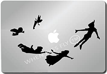 Peter Pan Shadow-Apple Macbook Ipad Laptop Vinyl Decal Sticker ...
