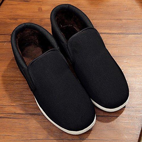 Grueso De Hombres Los Algodón Invierno Beijing Estilo Calientes A Zapatos Black Kung Fu waEq6pnqvx