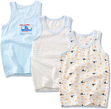 QPM Children's Clothes Boys Vests tees Underwear Kids Camisoles Summer  Cartoon Cotton Tops for Boys,as Photo,6T: Amazon.co.uk: Clothing