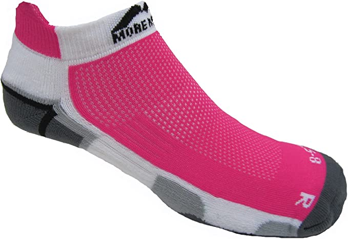 More Mile New York Running Socks Pink Womens Cushioned Sports Trainer Sock