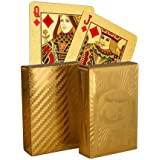 LOF waterproof Poker Golden Plating Playing Cards For Diwali (Set of 2 Packs) | Best for big family get together | Diwali Gift for family | Best Diwali Gift for Friends |