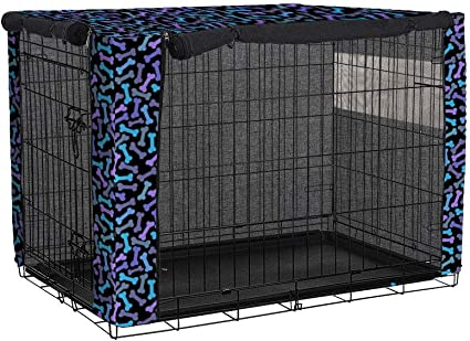 """42/"""" XL Dog Crate Pet Cage Kennel Cover Only Black Breathable Durable Polyester"""