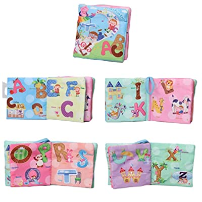 Weardear Durable Soft Baby Cloth Book Early Educational Book Intelligence Development Toy Activity Play Centers : Baby