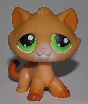 Kitten 110 Orange Green Eye Littlest Pet Shop Retired