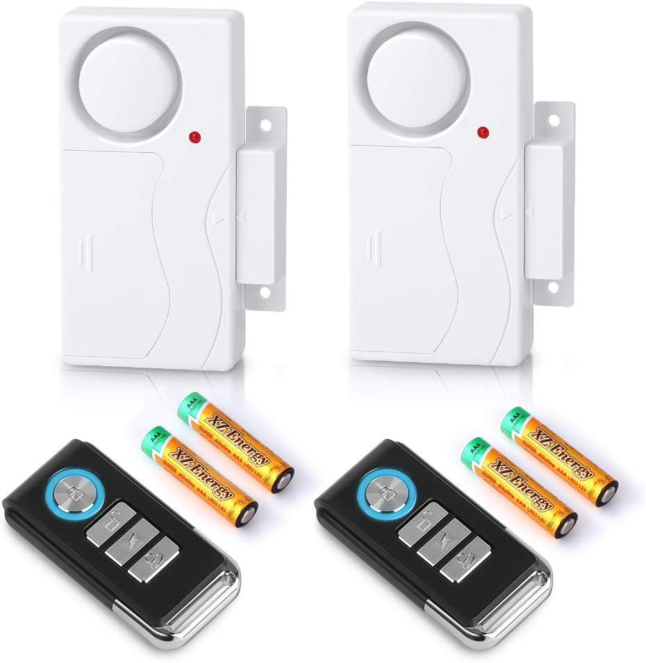 Wsdcam Wireless Door Alarm with Remote 40 Pack, Battery Included, 40 dB  Loud Pool Door Alarm, Wireless Door Open Alarms Sensor for Kids Safety Home  ...