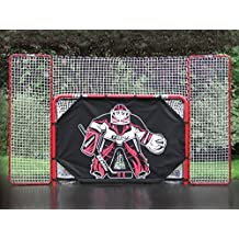 Ezgoal Regulation Pro Steel Folding Hockey Goal System With Shooter Tutor - Pro Heavy Duty Shooter Tutor Removed in Seconds for Game Play, Precision-Fit Connections for Stability, No Tools Required with Puckstopper Backstop