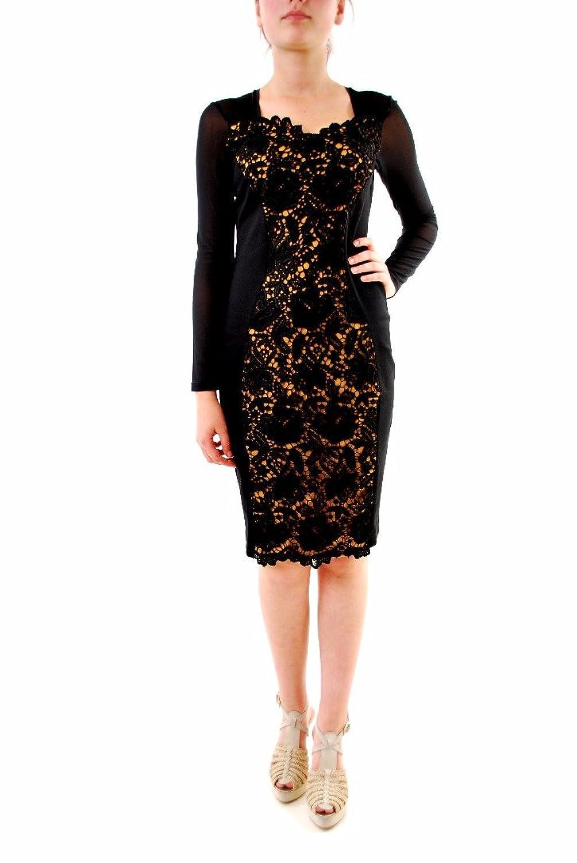 Ana Alcazar Women's Long Sleeve Knee Length Dress Black/Gold Size 36