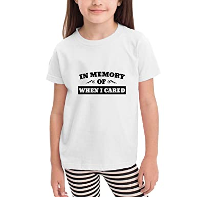 2984973a1 Amazon.com: in Memory of When I Cared Toddler Girls Short Sleeve Crew Neck  Shirt: Clothing