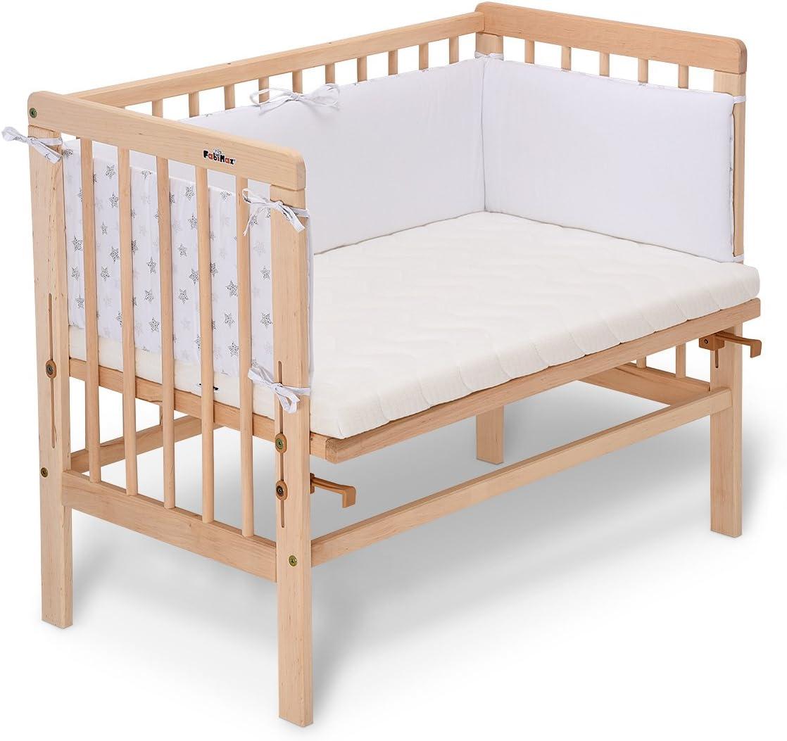 Lit d/'appoint naturel Basic FabiMax avec matelas et tour de lit