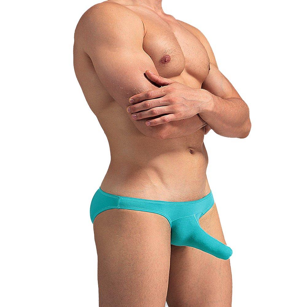 Chris&Je Mens Long Sheath Bikini Briefs Pouch Underwear