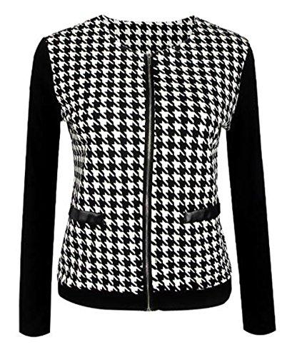 Cremallera Manga Paravientos Outwear Coat Con Cardigan Larga Tops Tayaho negro Abrigos Corto Personalizadas Jacket Clasicos Jacket Mujer Ocasionales Patchwork Guays apWqxzFBw