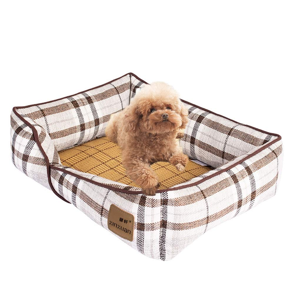 1 SmallDog Mat Cat Mat Kennel Sleeping Mat Pet Summer Ice Pad Cooling Mattress Four Seasons Comfortable Breathable,03,L