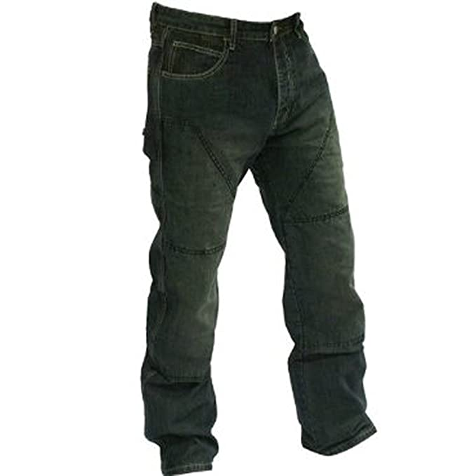 cf1f2dfefe Juicy Trendz Hombres Motocicleta Motorista Pantalones Con Forro De  Protección  Amazon.es  Ropa y accesorios