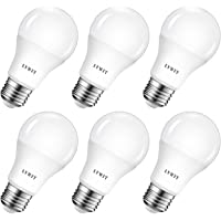 8.5W Ampoule LED E27 A60 LVWIT, 6500K Blanc Froid Equivalent a 60W, 806Lm Non-Dimmable, 6 Packs