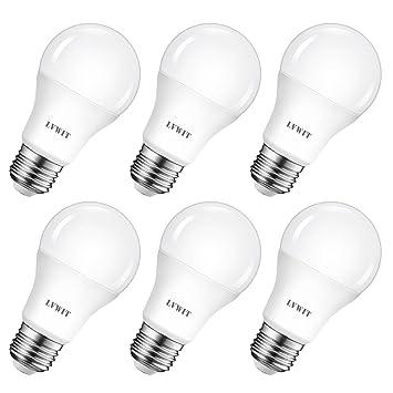 LVWIT Bombillas LED A60, Casquillo E27, 8.5W equivalente a 60W, 2700K Luz