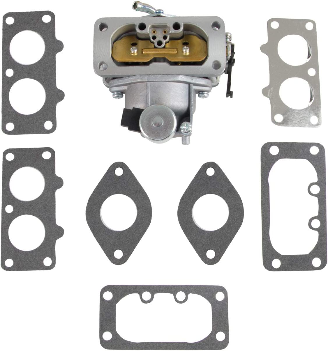 Replace 15004-0757 15004-0760 Carburetor//Carb with Gaskets Compatible with Kawasaki Nikki 22 HP FH721V FH641V FH661V FH601V FH680V FX850V Engine Replace 15004-0757