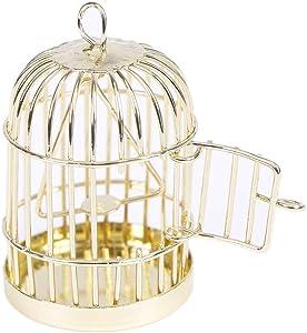Yiphates 1:12 Dollhouse Miniature Furniture Metal Bird cage for Dollhouse Decor