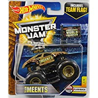 Hot Wheels Monster Jam 2017 Flashback Team Meents (con bandera) Escala 1:64