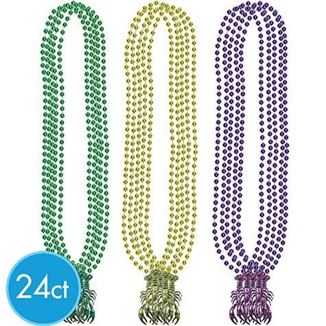 Mardi Gras Crawfish 33in Bead Necklaces - Gras Crawfish Beads Mardi