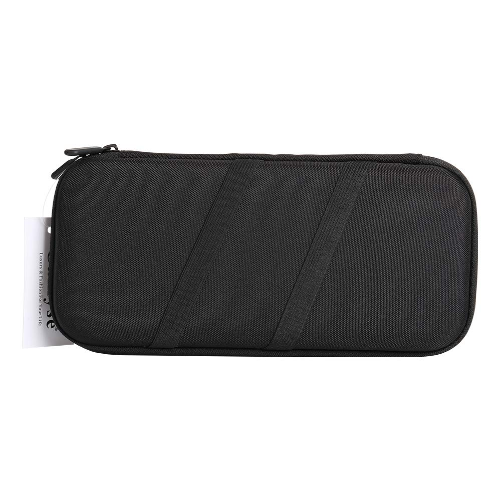 Gamemyse Carrying Case for Nintendo Switch, Slim Portable Travel Handle Bag Waterproof Nylon Pouch Protective Carrying Case with 10 Game Card Slot Holder, Pouch Holder for Gaming Accessories - Black