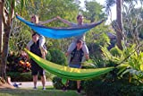 Hammock For Camping In The Premium Set - Tree Straps And Aluminium Carabiners Including (Blue/Light Gray)