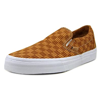 Vans Classic Slip-On Unisex Canvas Trainers Red - 39 EU 5cXPN
