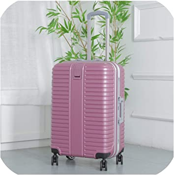 New Travel Trolley Bag With Wheels Women Men Unisex Luggage Bag On Wheel rose red