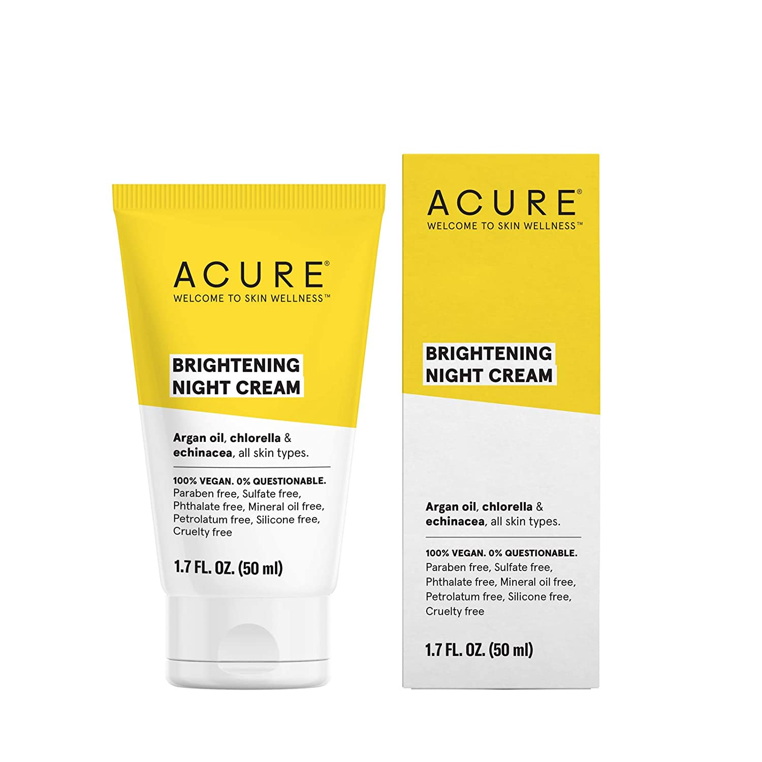 ACURE Brightening Night Cream, 1.7 Fl. Oz. (Packaging May Vary) ET1006