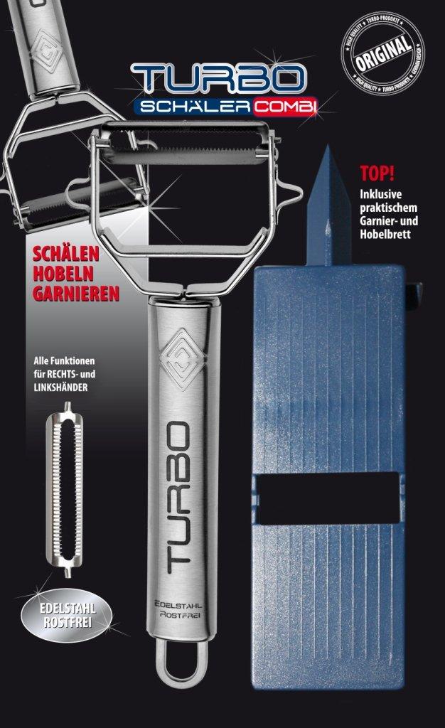 Original Turboschäler Set mit Garnier Aufsatz Hobelbrett Sparschäler ...