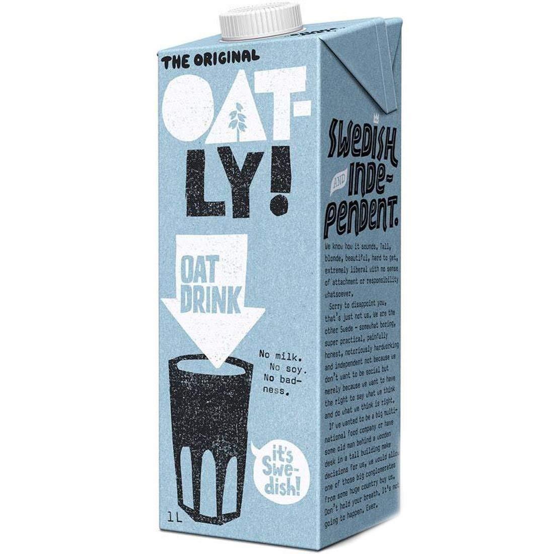 Oatly Original Oat Drink 1 Litre (Pack of 2)