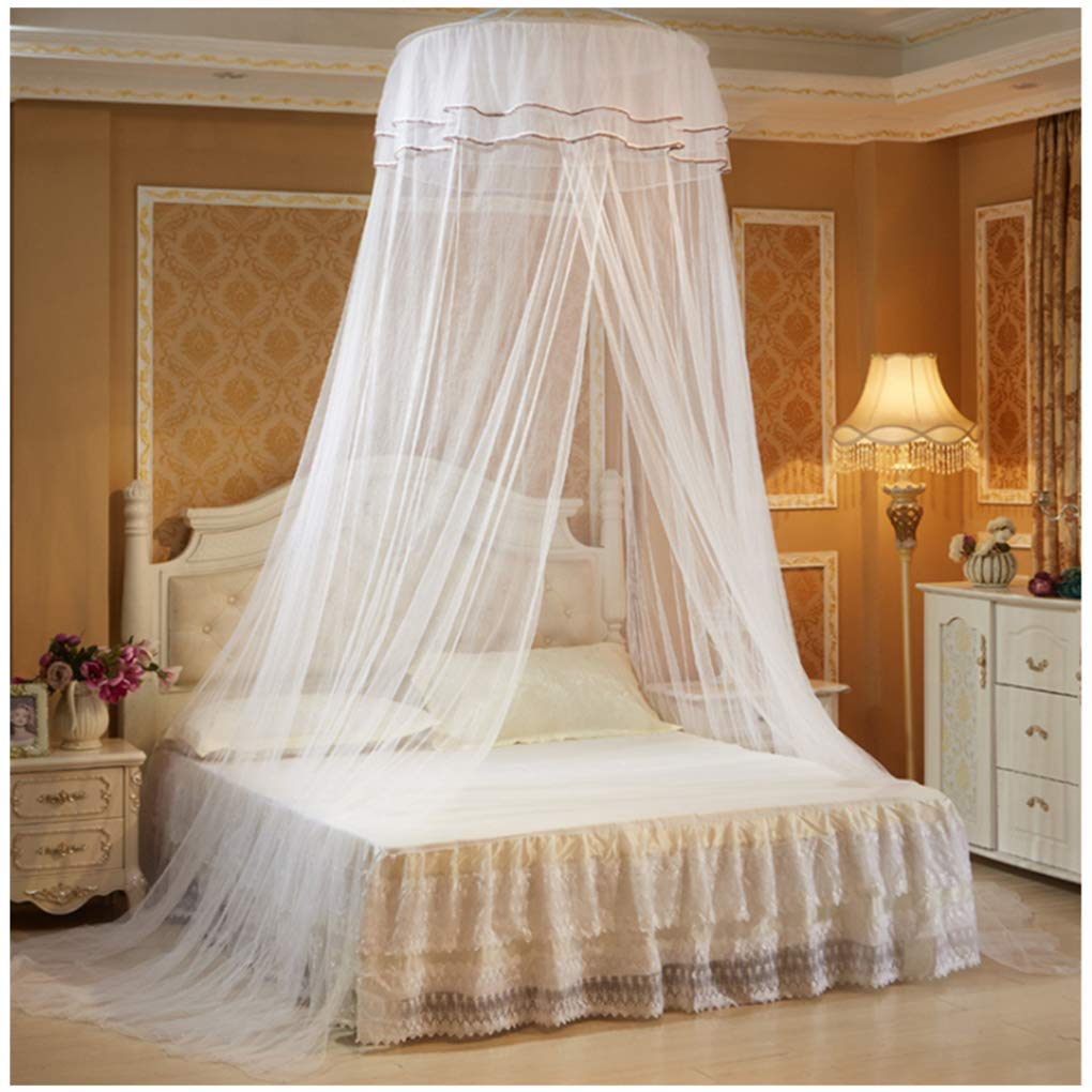 Olivia Lace Princess Butterfly Dome Mosquito Net Bed Canopy Ceiling Curtain Anti-Mosquito Insect Net White