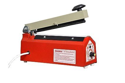 Hand Heat Sealing packaging Machine impulse sealer (size:8 inch, red)