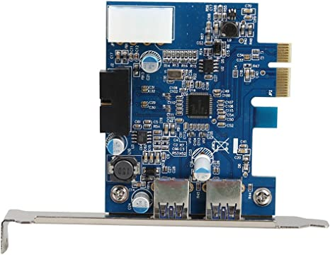 PCI-E USB 3.0 2 Ports PCI Express Expansion Card 19-Pin Power Connector Adapter