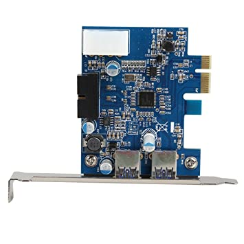 Amazon.com: USB 3.0 2-port 19-pin Header PCI-E Card 4-pin ...