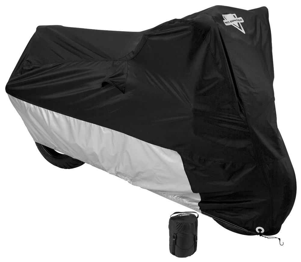 protecci/ón contra el calor incluye arandelas protecci/ón contra la intemperie rayos UV forro para parabrisas bolsa de compresi/ón con sistema de ventilaci/ón Funda Nelson/Rigg Deluxe para motocicletas