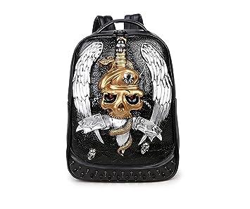 syins nuevos hombres mochila 3d alivio soldados personalidad juego Pack Cool animación Boom jóvenes 15 inch Laptop Bag plateado plata talla única: ...