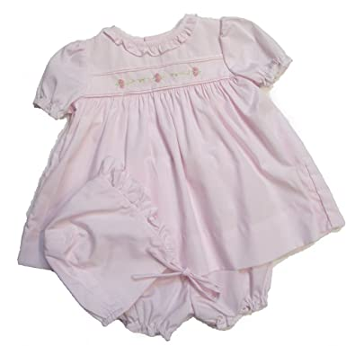 1092122e6 Amazon.com  Petit Ami Soft Pink Dress w Matching Hat Delicat ...