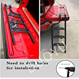 DUOYU Universal Foldable Tailgate Ladder Accessories Aluminium Alloy Tailgate Step Ladder Kit Fit for Pickup Truck