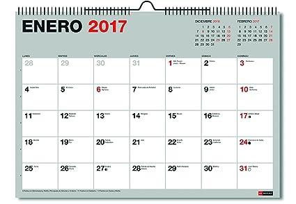 Miquelrius 28022 - Calendario de pared A3, para escribir