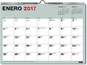 Miquelrius 28022 - Calendario de pared A3, para escribir: Amazon.es: Oficina y papelería