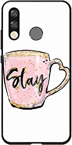 Okteq Case Cover for Huawei P30 lite Shock Absorbing PC TPU Full Body Drop Protection Cover matte printed - stay mug By Okteq