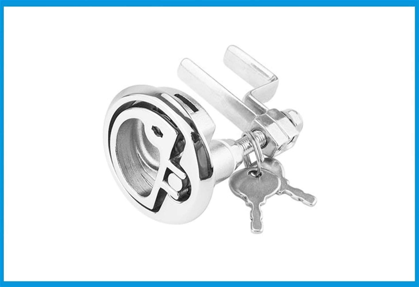 Nologo Durable Practical Marine Grade Stainless Steel 316 Cam Latch Flush Pull Deck Hatch Lift Handle with Key Boat Hardware Accessories
