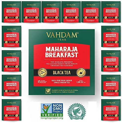 English Breakfast Black Tea (100 Tea Bags) | HIGH ENERGY & CAFFEINE - Healthy Coffee Replacement | Strong, Robust & Flavoury Black Tea Bags | Brew Hot, Iced, Kombucha Tea, ()