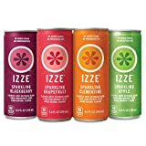 Gourmet Food : IZZE Sparkling Juice, 4 Flavor Variety Pack, 8.4 oz Cans, 24 Count