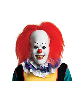 Rubieu0027s Stephen Kings It Pennywise Adult Clown Costume Mask  sc 1 st  Amazon.com : it the clown costume  - Germanpascual.Com